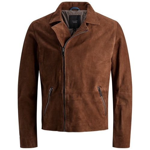 Jason Suede Biker Jacket Veste En Cuir Men brown - jack & jones - modalova