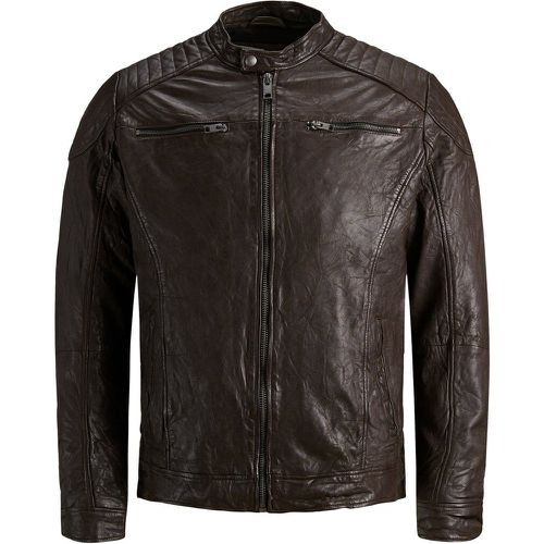 Minimaliste Veste En Cuir Men brown - jack & jones - modalova