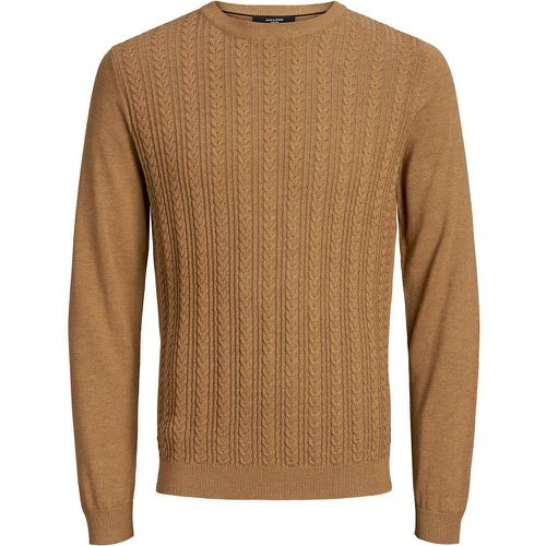 Maille Torsadée Pull En Maille Men brown - jack & jones - Modalova