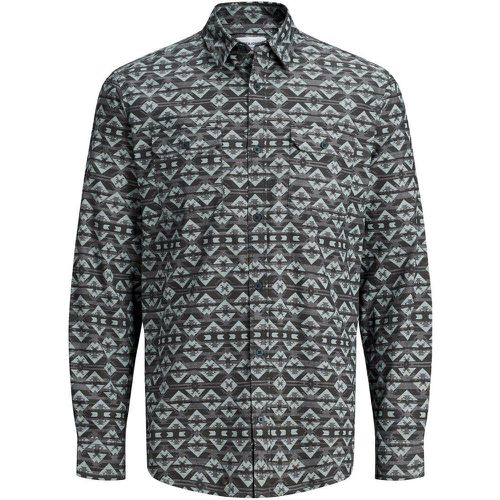 Imprimé All-over Chemise À Manches Courtes Men grey - jack & jones - modalova