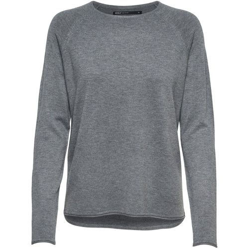Couleur Unie Pull En Maille Women Grey - ONLY - Shopsquare