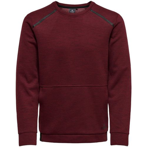 Couleur Unie Sweat-shirt Men Red - ONLY - Shopsquare