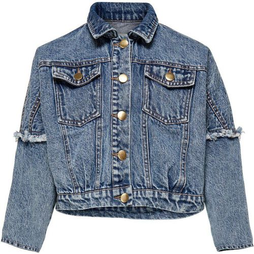 ONLY Frill Denim Jacket Women Blue - ONLY - Shopsquare
