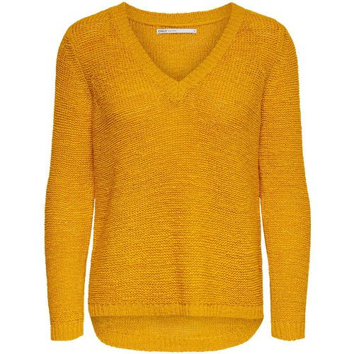 Col En V Pull En Maille Women Yellow - ONLY - Shopsquare