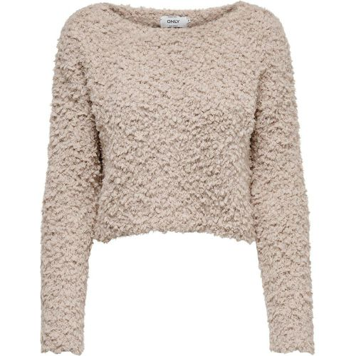 Raccourci Pull En Maille Women Grey - ONLY - Shopsquare