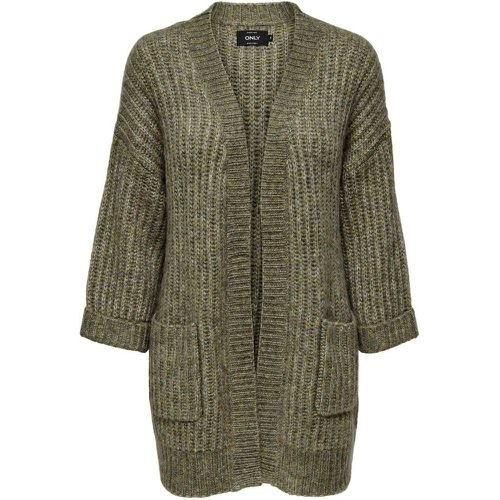 Grosse Maille Cardigan En Maille Women Grey - Only - Modalova