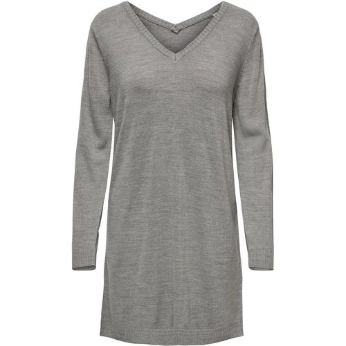 Col En V Robe En Maille Women Grey - ONLY - modalova