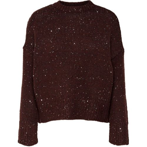 Sequins Pull En Maille Women Brown - ONLY - Shopsquare
