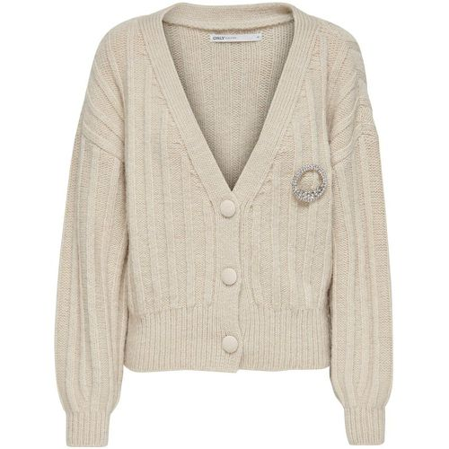 Raccourci Cardigan En Maille Women White - ONLY - Shopsquare