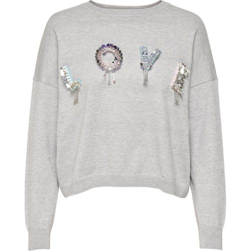 Sequins Pull En Maille Women Grey - ONLY - Shopsquare