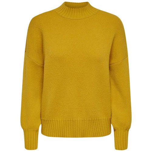 Col Montant Pull En Maille Women Yellow - ONLY - Shopsquare