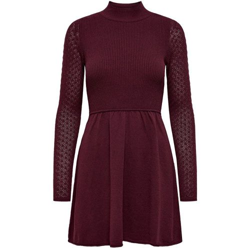 Côtelé Robe En Maille Women Red - ONLY - Shopsquare