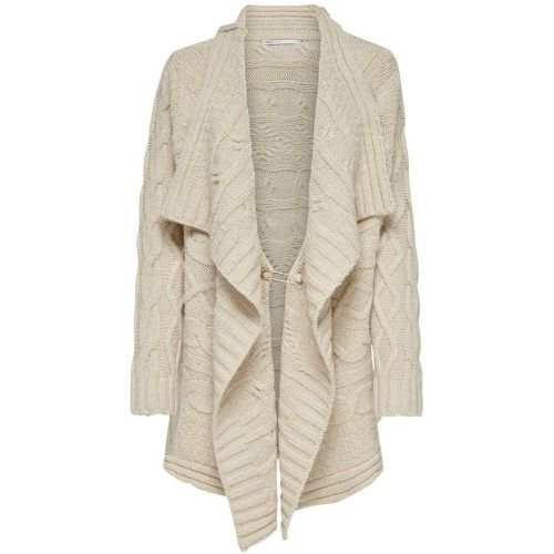 Effet Drapé Cardigan En Maille Women White - ONLY - Shopsquare