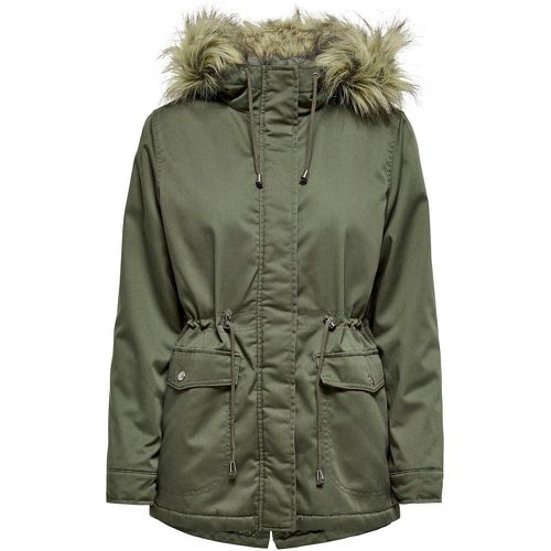 Bord En Fourrure Synthétique Parka Women Green - ONLY - modalova
