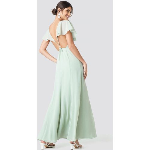 Back Detail Maxi Dress - Green - NA-KD Party - modalova