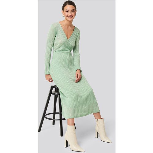 MANGO Lurex Dress - Green - Mango - modalova