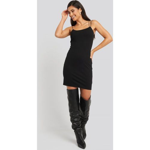 Assymetric Spaghetti Strap Dress - Black - NA-KD Party - modalova
