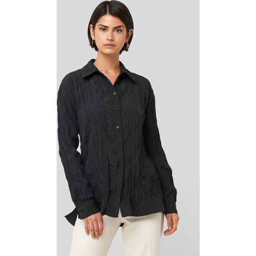 Creased Effect Blouse - Black - NA-KD Classic - modalova