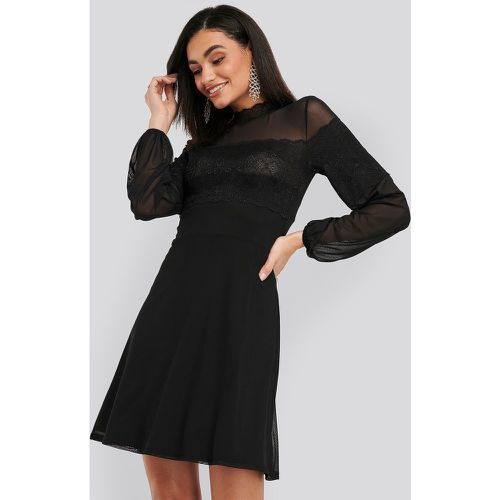 NA-KD Mesh Mix Jersey Dress - Black - NA-KD - modalova
