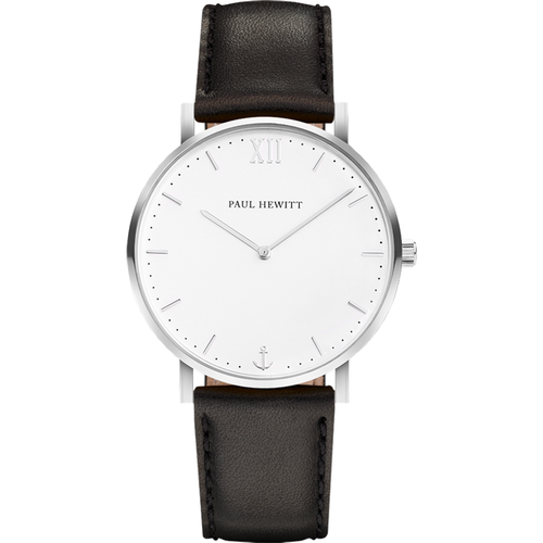 Montre Sailor Line White Sand Acier Inoxydable Bracelet Cuir Noir - PAUL HEWITT - Shopsquare