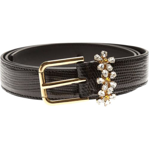 Accessoires Pas cher en Soldes Outlet, Noir, Cuir, 2017, EU 90 cm • US/UK 36 in EU 95 cm • US/UK 38 in EU 100 cm • US/UK 40 in - Dolce & Gabbana - Modalova