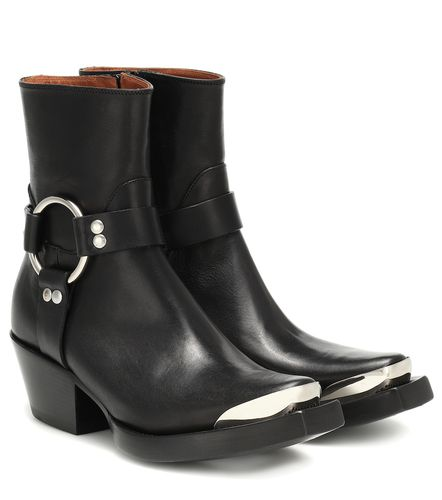 Bottines santiags en cuir - Vetements - Shopsquare