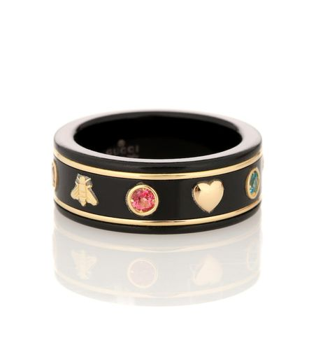 Bague en or 18 ct et pierres Icon - Gucci - Modalova