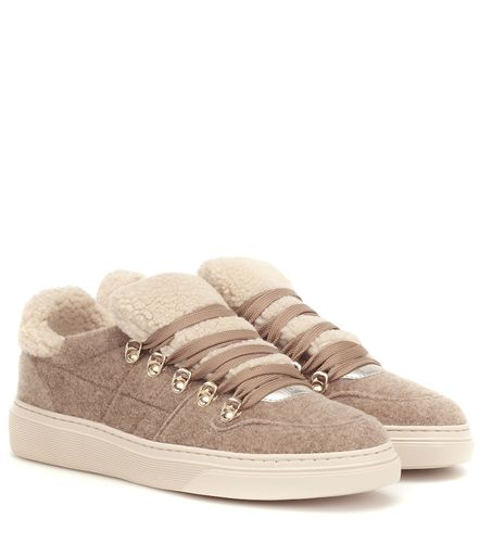 Baskets en feutre et shearling synthétique - Hogan - Shopsquare