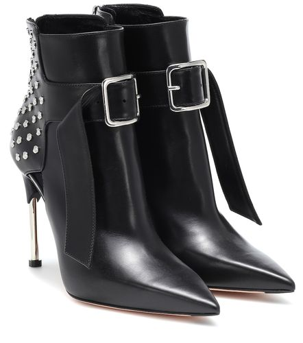 Bottines en cuir à ornements - Alexander McQueen - Shopsquare