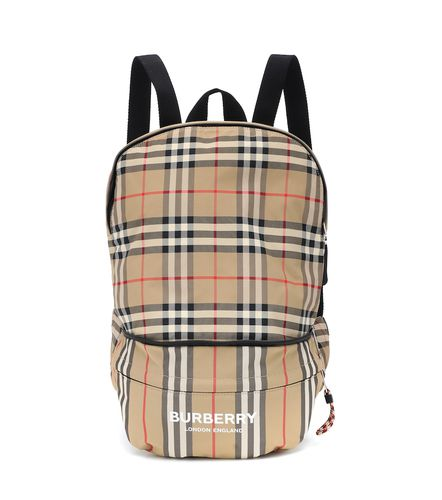 Sac à dos en nylon à carreaux - Burberry Kids - modalova