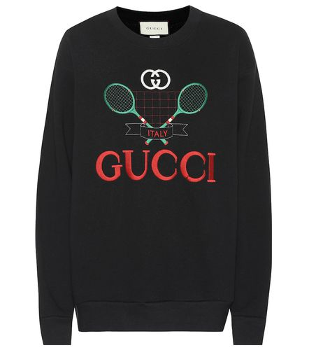 Sweat-shirt brodé en coton - Gucci - Shopsquare