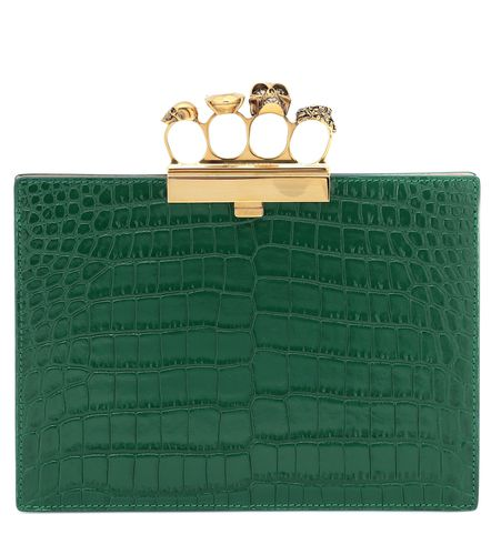 Pochette Jewelled Small Four-Ring en cuir - Alexander McQueen - Shopsquare